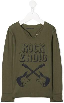 Zadig & Voltaire Kids Rock Adic henley top