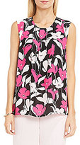 Vince Camuto Sleeveless Front Pleat Flow Blouse