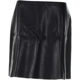 Mulberry Black Leather Skirts
