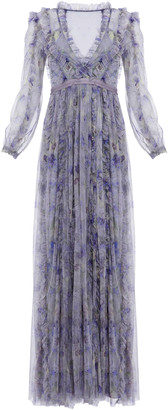 Needle & Thread Lilacs Ruffled Maxi Dress