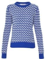 Golden Goose Deluxe Brand Zigzag-intarsia crew-neck sweater