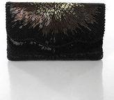 La Regale Black Beaded Shoulder Handbag Size Small