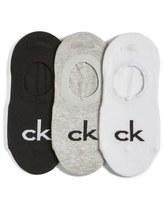 Calvin Klein 'Retro Logo' Liner Socks (3-Pack)