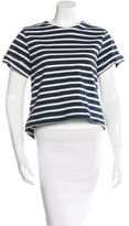 ADAM by Adam Lippes Striped Split-Back Top