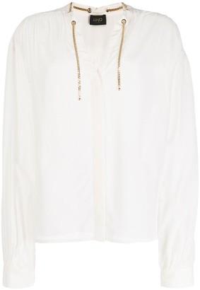 Liu Jo Chain-Detail Long Sleeve Blouse