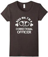 Men's Saint patrick day shirt- kiss me correctional officer shirt 2XL