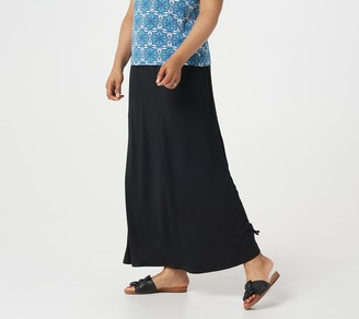 Brooke Shields Timeless BROOKE SHIELDS Timeless Regular Knit Maxi Skirt with Side Ruching