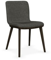 Calligaris Annie Leather Upholstered Side Chair Upholstery Color: Taupe, Leg Color: Smoke