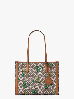 Kate Spade Spade Flower Jacquard Market Cherry Medium Tote