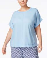 Nautica Plus Size Cuffed Pajama T-Shirt