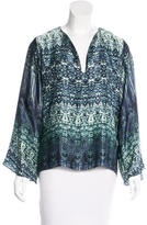 Alexis Silk Abstract Print Top