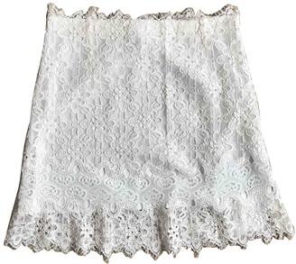 Sandro Spring Summer 2019 Ecru Cotton Skirt for Women