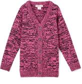 Pink Angel Fuchsia & Black Twist V-Neck Cardigan - Infant Toddler & Girls