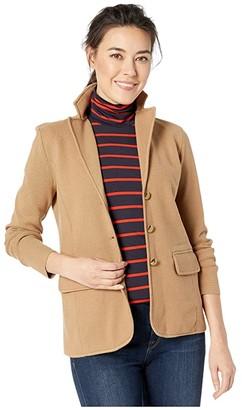 Lauren Ralph Lauren Petite Sweater Knit Blazer (Classic Camel) Women's Jacket