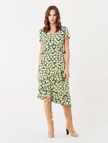 Diane von Furstenberg Glenys Silk Crepe de Chine Asymmetrical Dress