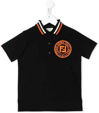 Fendi Kids Logo Print Polo Shirt