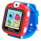"""LINSAY® 1.5"""" Kids Smartwatch 90 Degree Selfie Camera HD for Videos/Photos Learning Apps Blue"""