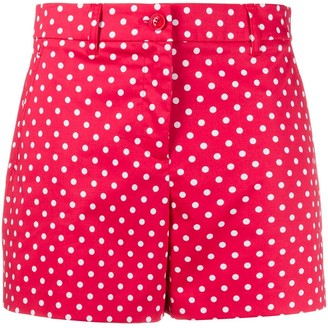 Boutique Moschino Polka-Dot Short Shorts
