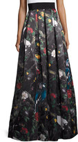 Alice + Olivia Pleated Floral Ball Skirt, Charmed Forest