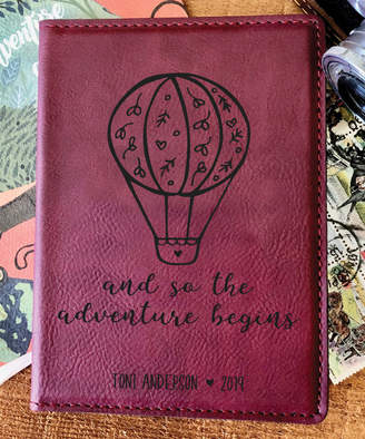 Stamp Out Online Passport Holders rose - Rose 'Adventure Begins' Personalized Passport Cover