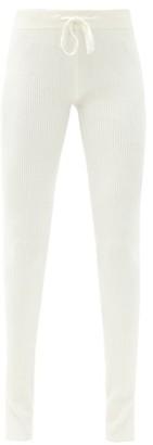 Reebok x Victoria Beckham Drawstring-waist Ribbed-jersey Track Pants - Ivory