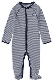 Ralph Lauren Boys' Striped Footie - Baby