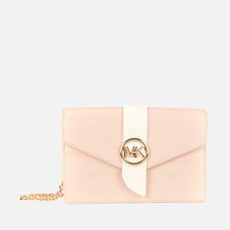 MICHAEL Michael Kors Women's Mk Charm Medium Wallet Cross Body Bag - Soft Pink/Multi