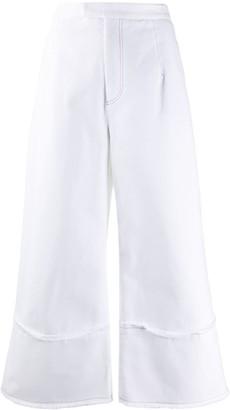 Jejia Wide-Leg Cropped Trousers