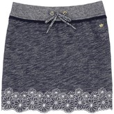 Juicy Couture Girls Fashion Track Terry Floral Embroidered Skirt
