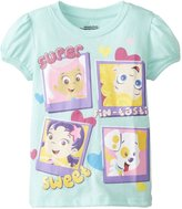 Nickelodeon Little Girls' Bubble Guppies Super Sweet Girls Puff Sleeve T-Shirt