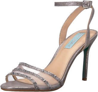 Blue by Betsey Johnson Women's SB-VEDA Heeled Sandal Silver 6 M US