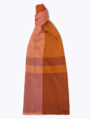 M&S CollectionMarks and Spencer Checked Scarf