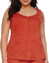 Bisou Bisou Sleeveless Studded Top - Plus