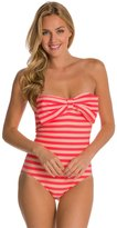 Kate Spade Nahant Shore Bow Bandeau One Piece Swimsuit 8126535