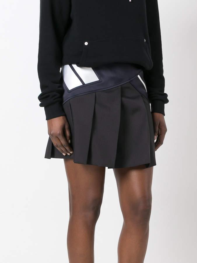 Neil Barrett contrast stripe skirt