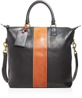Polo Ralph Lauren Striped Leather Tote Bag
