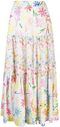 Mira Mikati Tiered Maxi Skirt