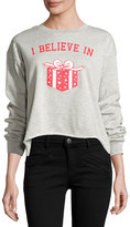 Signorelli Graphic-Front High-Low Sweatshirt, Gray