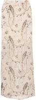 Zimmermann Metallic Appliquéd Silk-Blend Chiffon Maxi Skirt