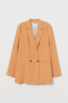 H&M Double-breasted Jacket - Yellow