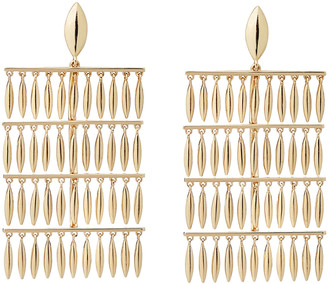 Ileana Makri Grass Raining Drop Earrings - Yellow Gold