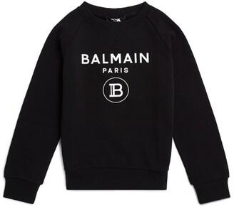 Balmain Kids Cotton Logo Sweatshirt (4-16 Years)