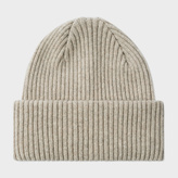 Paul Smith Men's Taupe Cashmere Beanie Hat