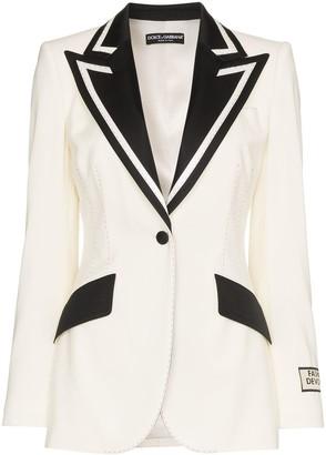 Dolce & Gabbana monochrome tux blazer