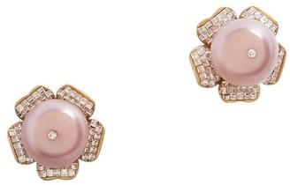 Dolce & Gabbana Crystal-Embellished Flower Clip-On Earrings