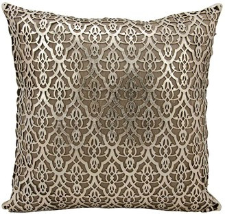 Couture Mina Victory Moorish Leaves Leather Throw Pillow