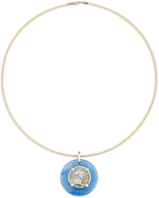 Dubini 18k Domitian-Era Denarius Coin Choker Necklace
