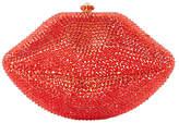 Dune Berrtie Embellished Clutch Bag, Red