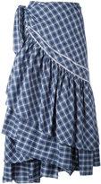 Circus Hotel check ruffled skirt - women - Cotton - 40