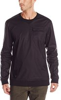 Ecko Unlimited Men's Popper Woven Crew Pullover Shirt